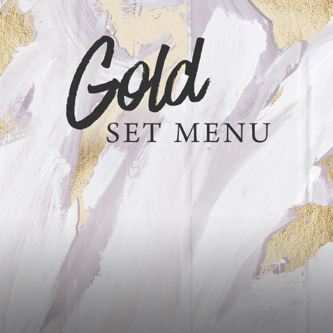 Gold set menu at The Arkley
