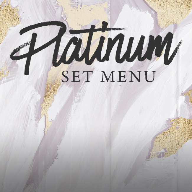 Platinum set menu at The Arkley
