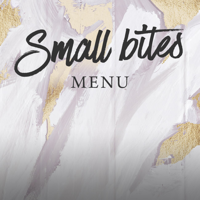 Small Bites menu at The Arkley