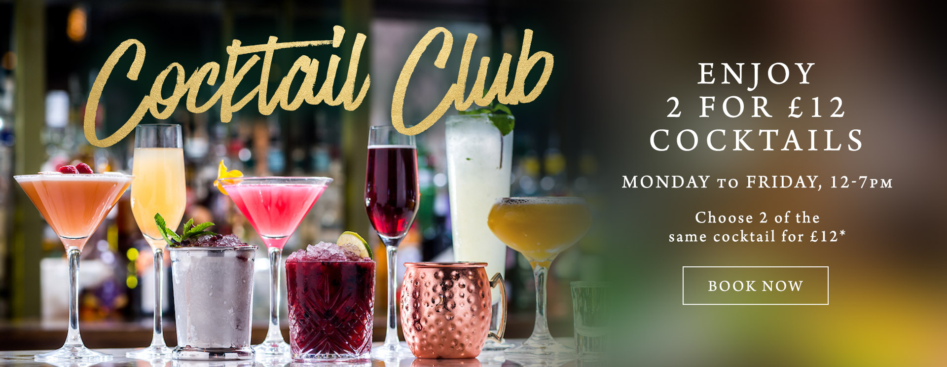 2 for £12 cocktails at The Arkley